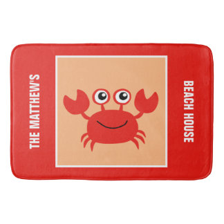 Happy Crab custom bath mat