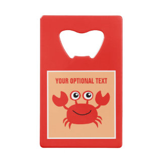 Happy Crab custom bottle opener