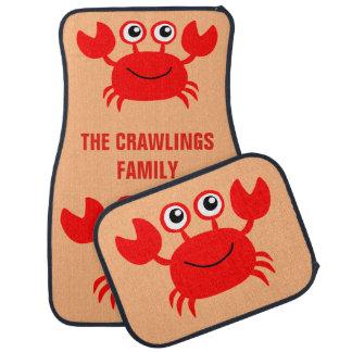 Happy Crab custom car floor mats