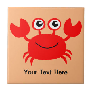 Happy Crab custom ceramic tiles