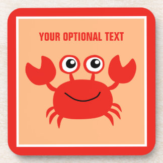 Happy Crab custom coasters