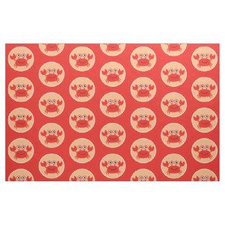 Happy Crab custom fabric
