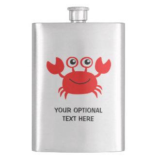 Happy Crab custom flask
