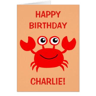Happy Crab custom greeting card