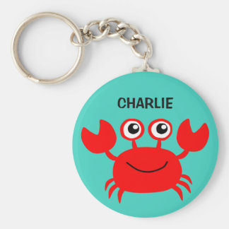 Happy Crab custom key chains
