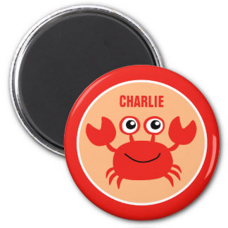Happy Crab custom monogram magnet