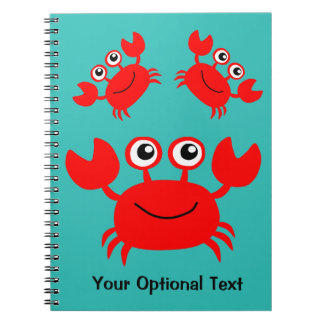 Happy Crab custom notebook