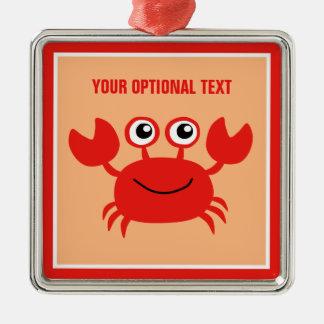 Happy Crab custom ornament