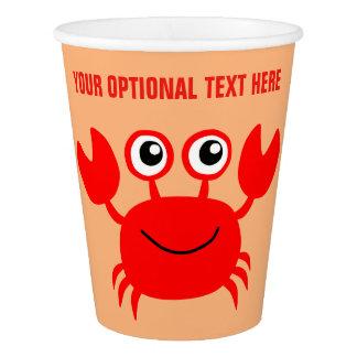 Happy Crab custom paper cups