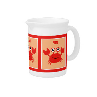 Happy Crab custom pitcher