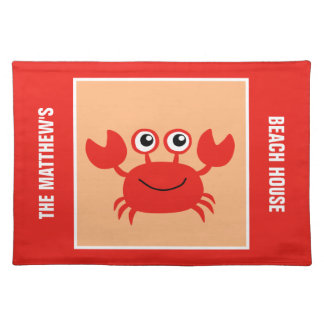 Happy Crab custom placemats