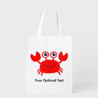 Happy Crab custom reusable bag