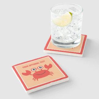 Happy Crab custom stone coaster