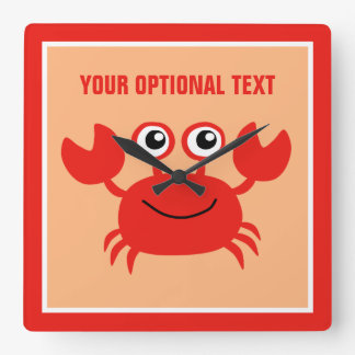 Happy Crab custom wall clock