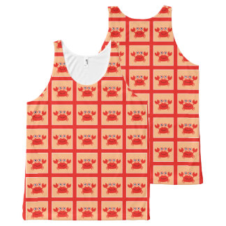 Happy Crab tanktop All-Over Print Tank Top