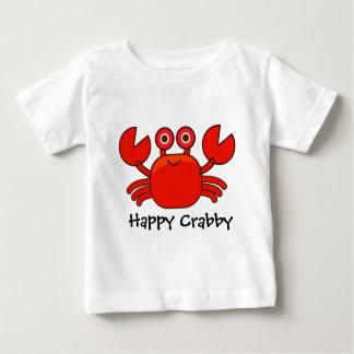Happy Crabby/Cute Red Cartoon Crab Design Baby T-Shirt
