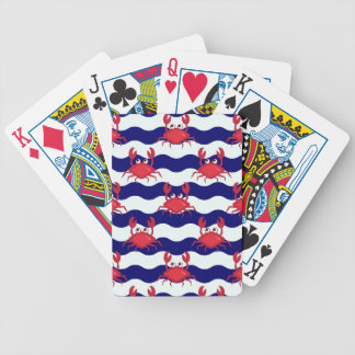 Happy Crabs Pattern Bicycle Playing Cards