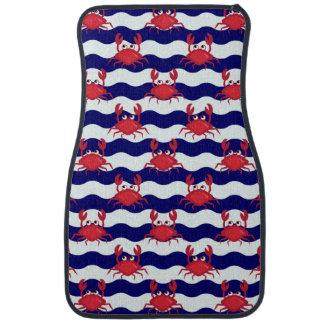 Happy Crabs Pattern Car Mat