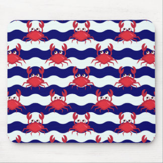 Happy Crabs Pattern Mouse Pad