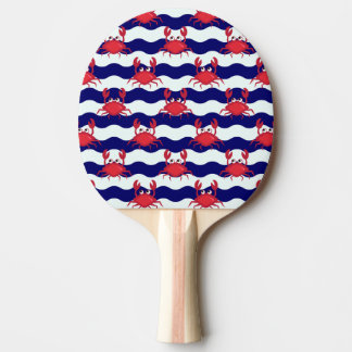 Happy Crabs Pattern Ping Pong Paddle