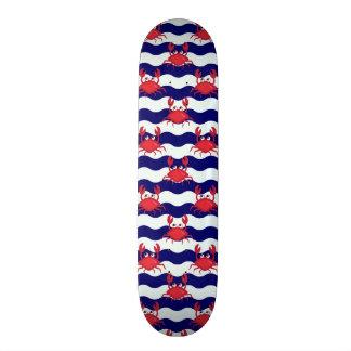 Happy Crabs Pattern Skate Board Deck