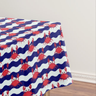 Happy Crabs Pattern Tablecloth
