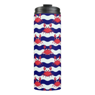 Happy Crabs Pattern Thermal Tumbler