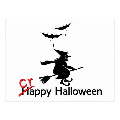 Happy Crappy Halloween Post Card