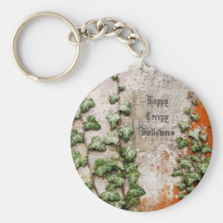 Happy Creepy Halloween from a Gravestone Basic Round Button Key Ring