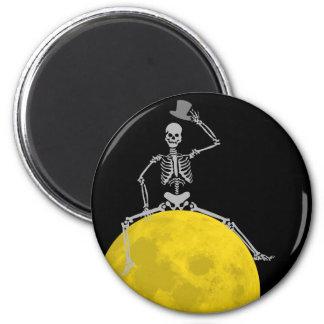 Happy Creepy Spooky Halloween from the Moon! Fridge Magnet