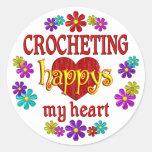 Happy Crocheting Sticker