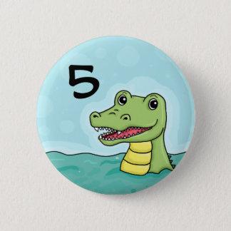 Happy Crocodile age 6 Cm Round Badge