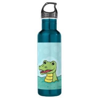 Happy Crocodile customisable 710 Ml Water Bottle