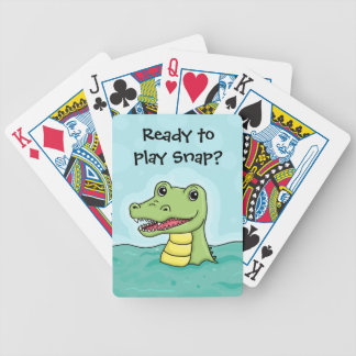 Happy Crocodile customisable Bicycle Playing Cards