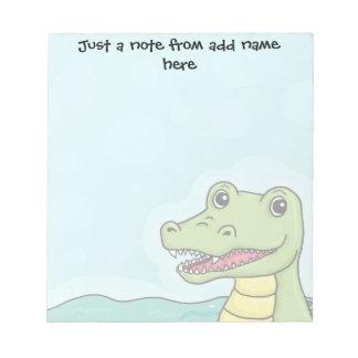 Happy Crocodile customisable Notepad