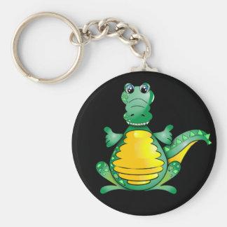 Happy crocodile key ring