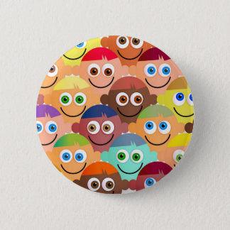 Happy Crowd 6 Cm Round Badge