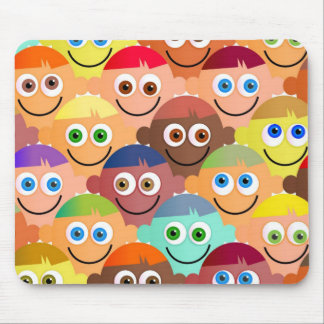 Happy Crowd Mouse Pad