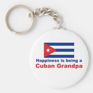 Happy Cuban Grandpa Key Chain