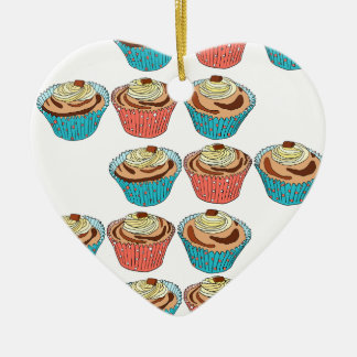 Happy Cup Cakes Christmas Ornament