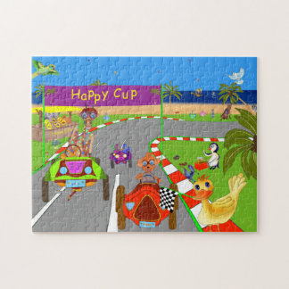 Happy Cup Race Day Finish Puzzles