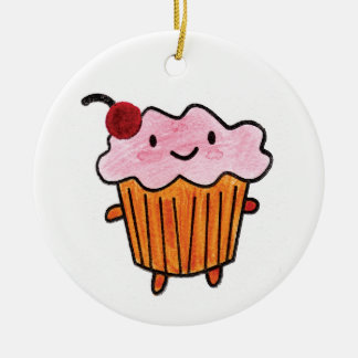 Happy Cupcake Christmas Ornament