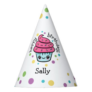 Happy Cupcake party hats