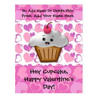Happy Cupcake Valentine Postcard