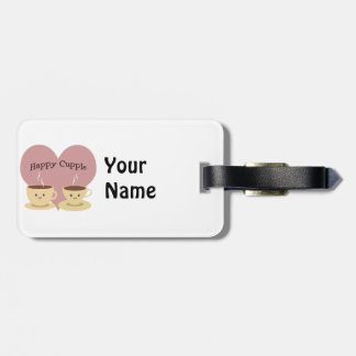 Happy Cupple! Cute Coffee Luggage Tag