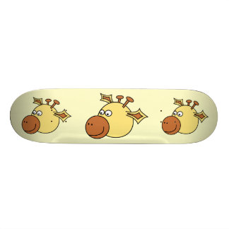 Happy Cute Giraffe. Cartoon Animal. 20 Cm Skateboard Deck