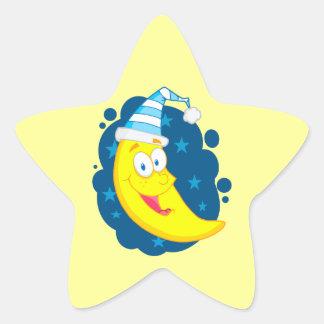 happy cute goodnight moon cartoon star stickers