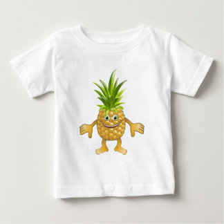 Happy cute pineapple fruit character baby T-Shirt