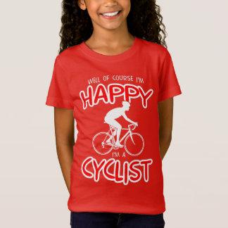 Happy Cyclist (wht) T-Shirt