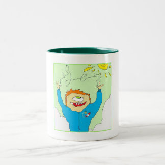 Happy Cyclops Two-Tone Mug